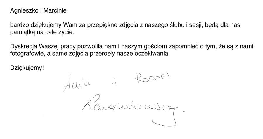 referencje od Ani i Roberta Lewandowskich 5czwartych zdjęcia ślubne fotograf ślubny fotografia ślubna